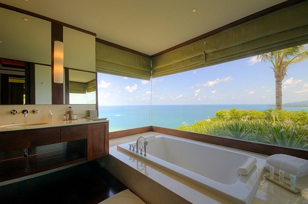 5 bed room luxurious seaside villa in phuket is for Bathroom design company thailand