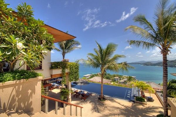 Thai Luxury Seaside Villa – view from atop