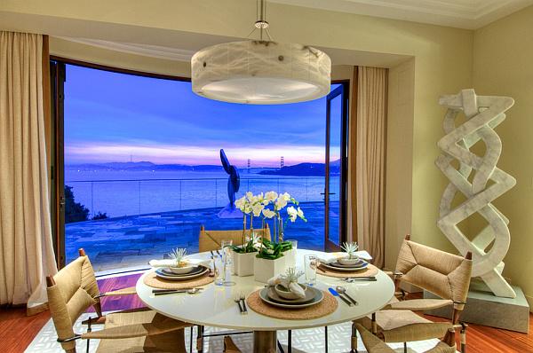 Villa Belvedere – San Francisco – Decoist 10 – modern dining table setting