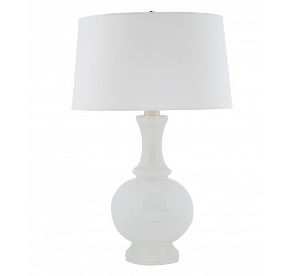 White milk glass lamp base Chic White Table Lamps For a Modern Interior