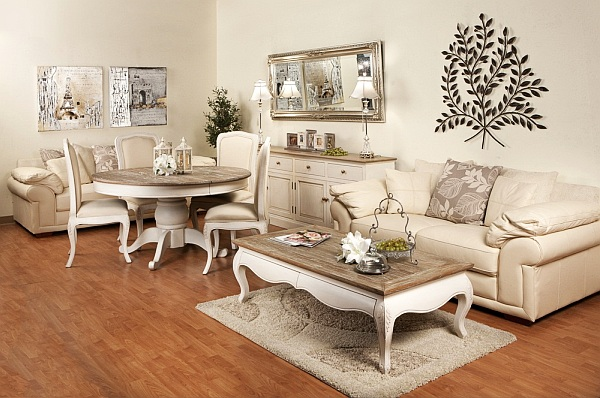 antique white wood distressed painted coffee table Antique Distressed Furniture for a Fresh Look