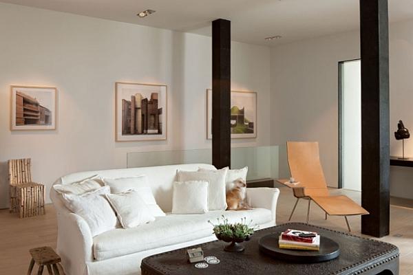 artistic furnished living room decoration
