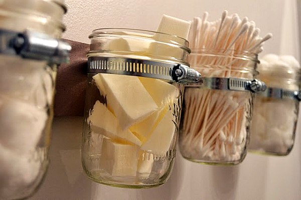 Bathroom Storage Jar Ideas : Bathroom organizers diy mason jar decoist