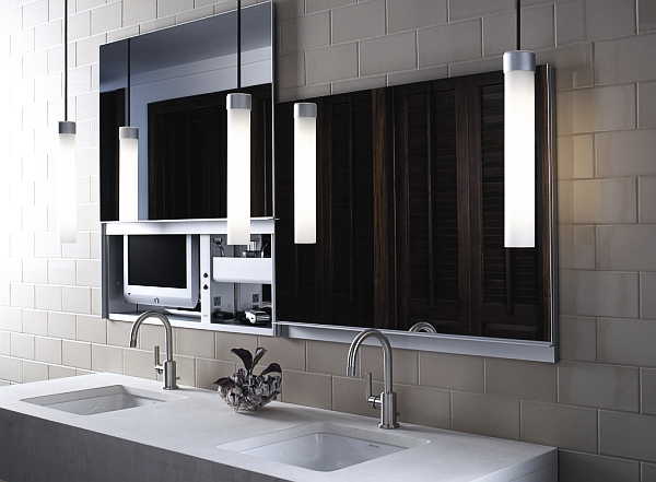Beautiful bathroom mirror looks modern decoist for Beautiful modern bathrooms