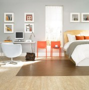 bedroom cork parquet flooring