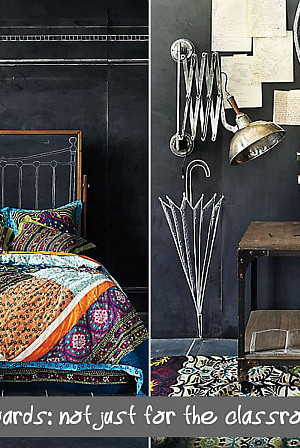 bedroom decoration with chalkboard