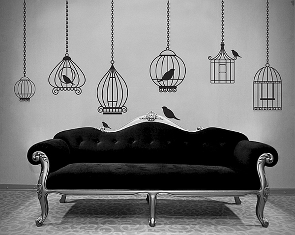 birdcages wallpaper stickers Using Birdcages in Home Design