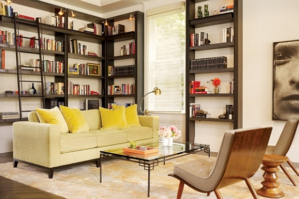 Luxurious living room concepts 25 amazing decorating ideas for Living room ideas with bookshelves