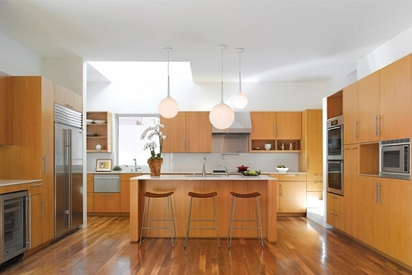 california kitchen decoration with clean lines and natural materials
