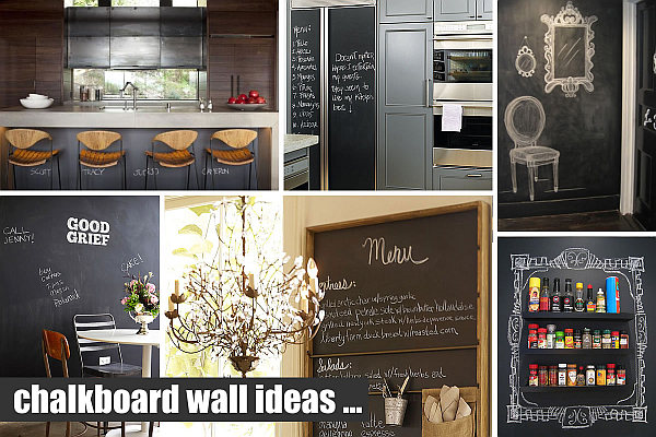 Creative chalkboard ideas kitchen interior decorating - Kitchen chalkboard paint ideas ...