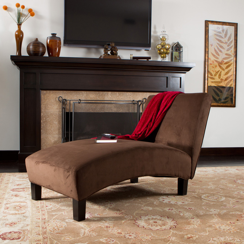 classic brown leather chaise lounge