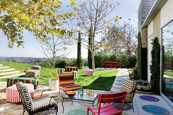 Courtyard Furniture & Decoration Inspiration: Be Creative ... on Colorful Patio Ideas id=30488