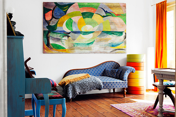 Bright area rugs add a pop of color - Colorful rugs for living room ...