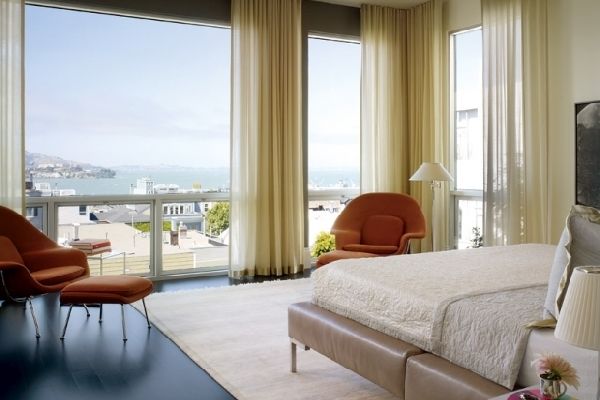 comfortable bedroom with great view 24 Upscale & Simple Bedroom Designs