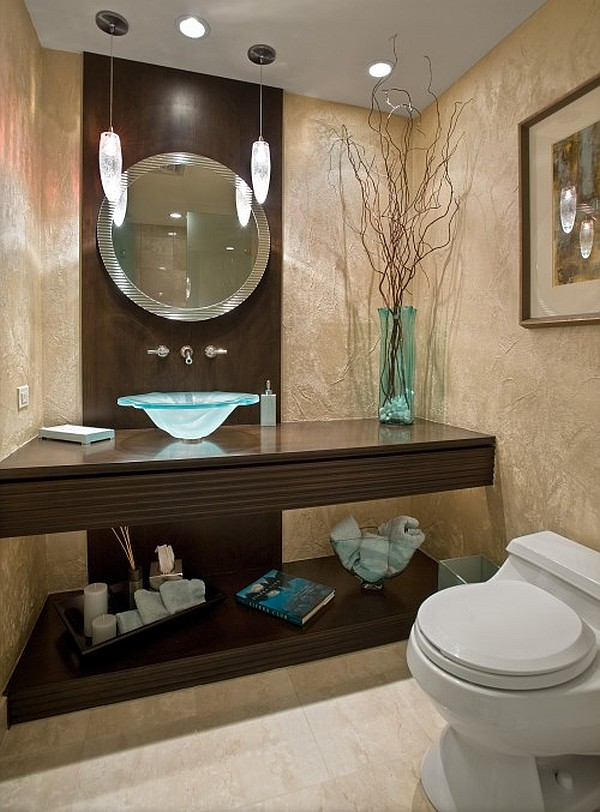 Guest bathroom powder room design ideas 20 photos for Bathroom decor 2012
