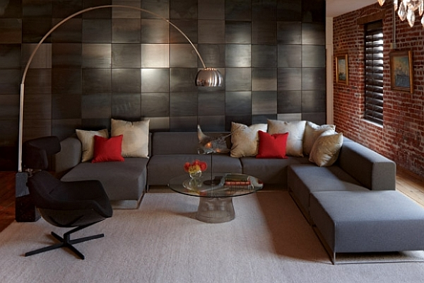 Contemporary living room with l shaped sofa furniture for Living room ideas l shaped sofa