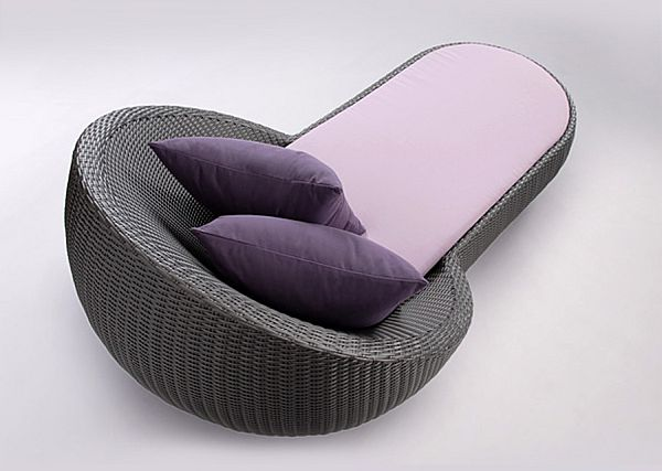 contemporary purlpe chaise lounge