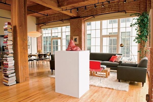 contemporary warehouse with brick walls 2 Part Gallery, Part Residence in San Francisco