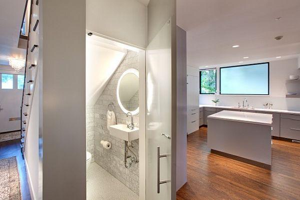 contemporary-white-powder-room