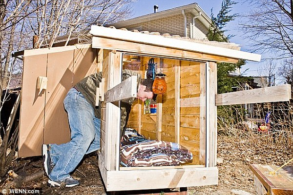 Tiny House Living: $200 Microhouses Built With Scavenged Stuff