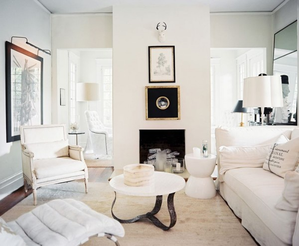 cozy white rooms 600x493 Decorating with Bright, Modern White
