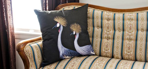 cranes pillow cushion
