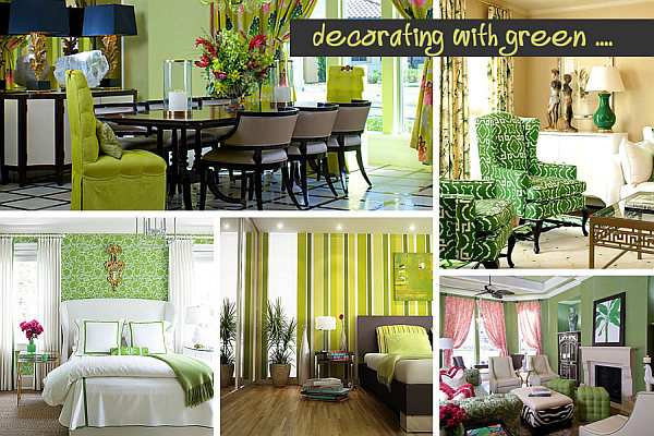 decorating with green Shades of Green: A Verdant Spring Decorating Palette