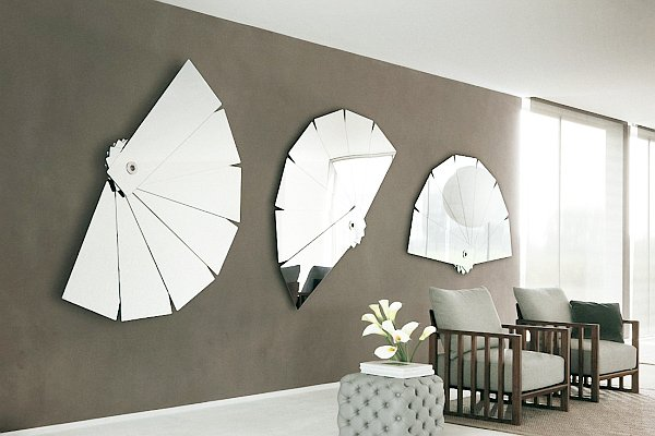 decorative mirrors on the walls
