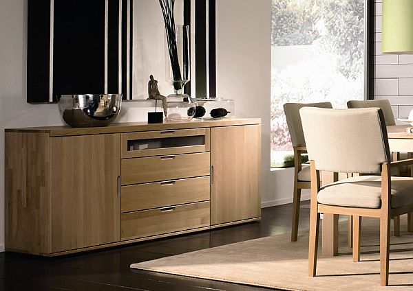 dining room with solid beech sideboard
