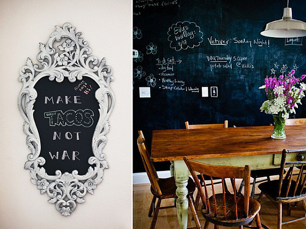 7 Inspiring Kid Room Color Options For Your Little Ones: Dining Table Chalkboard Paint