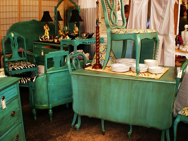 distressed turqoise furniture antiques