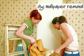 DIY Wallpapering: Out with the Old, In with the New