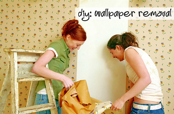 diy wallpaper removal DIY Wallpapering: Out with the Old, In with the New