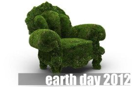 earth day 2012 - grass chair