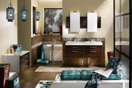 elegant bathroom decorating idea
