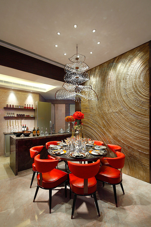Chandelier In Dining Room