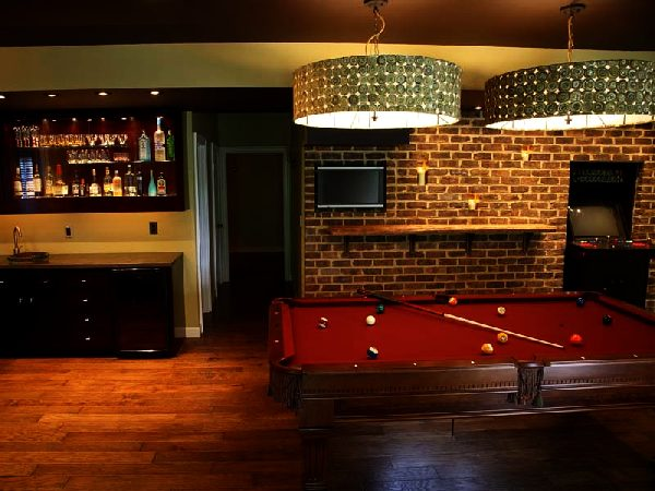 Game room in the basement decoist Basement game room ideas
