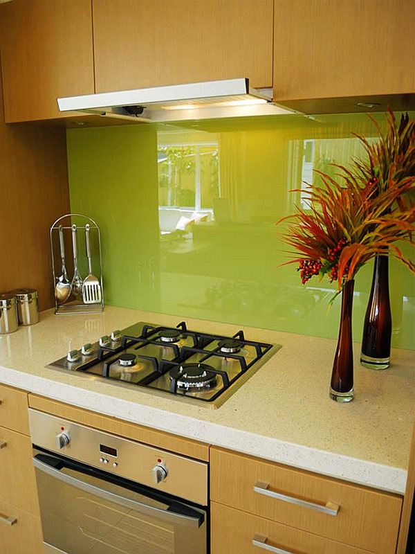 unusual kitchen backsplashes green glass kitchen backsplash decoist 3073