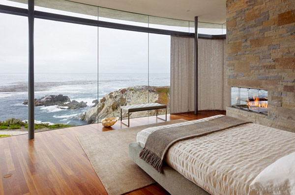 home perched on a cliff with ocean views 11 - amazing bedroom decor