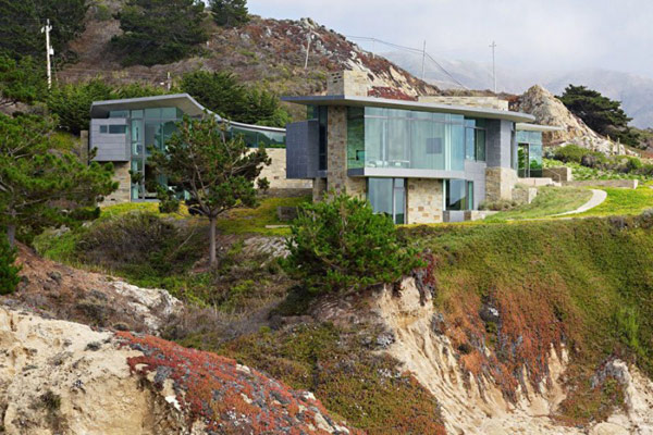 home perched on a cliff with ocean views 13