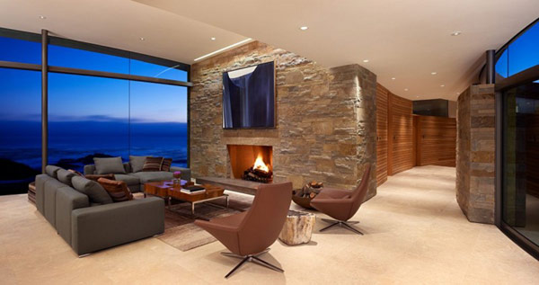 home perched on a cliff with ocean views 5 - living room