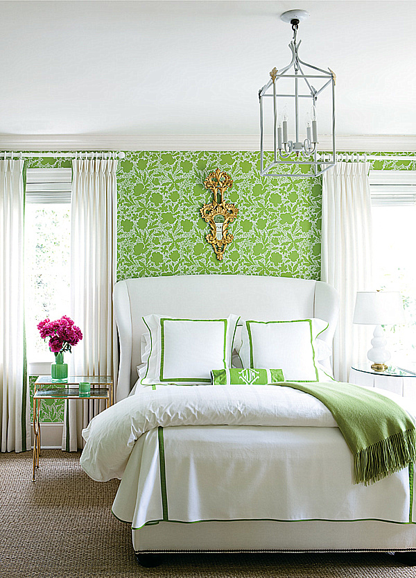 decorating with lime green