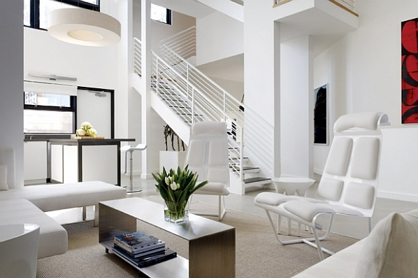 Luxurious Bright Living Room All White Part 84