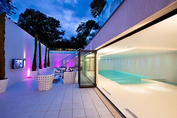luxury contemporary modern mansion with lavish pool