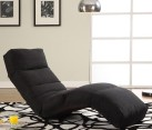 modern black chaise lounge