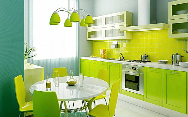the ?abstrakt? cabinet doors, available in green and white