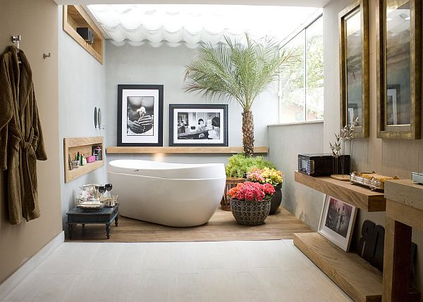 19 tastefully elegant bathroom designs for Small tropical bathroom design