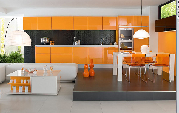 Preview - Kitchen with orange accents ...