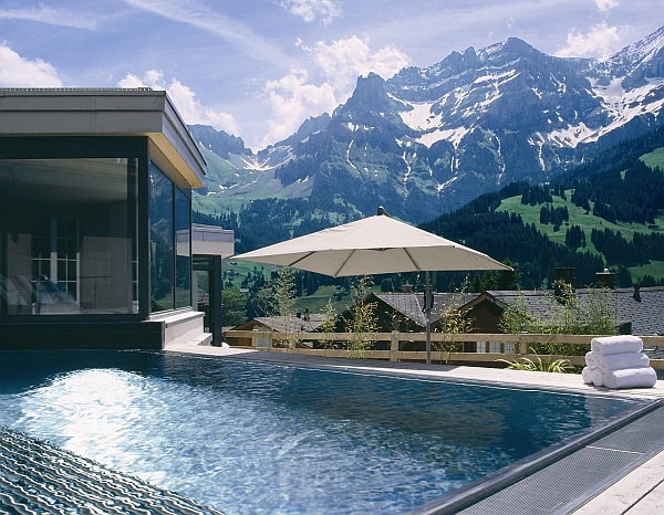 mountain villa with superb pool design