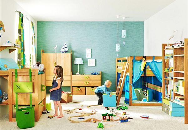 ocean theme kids bedroom design